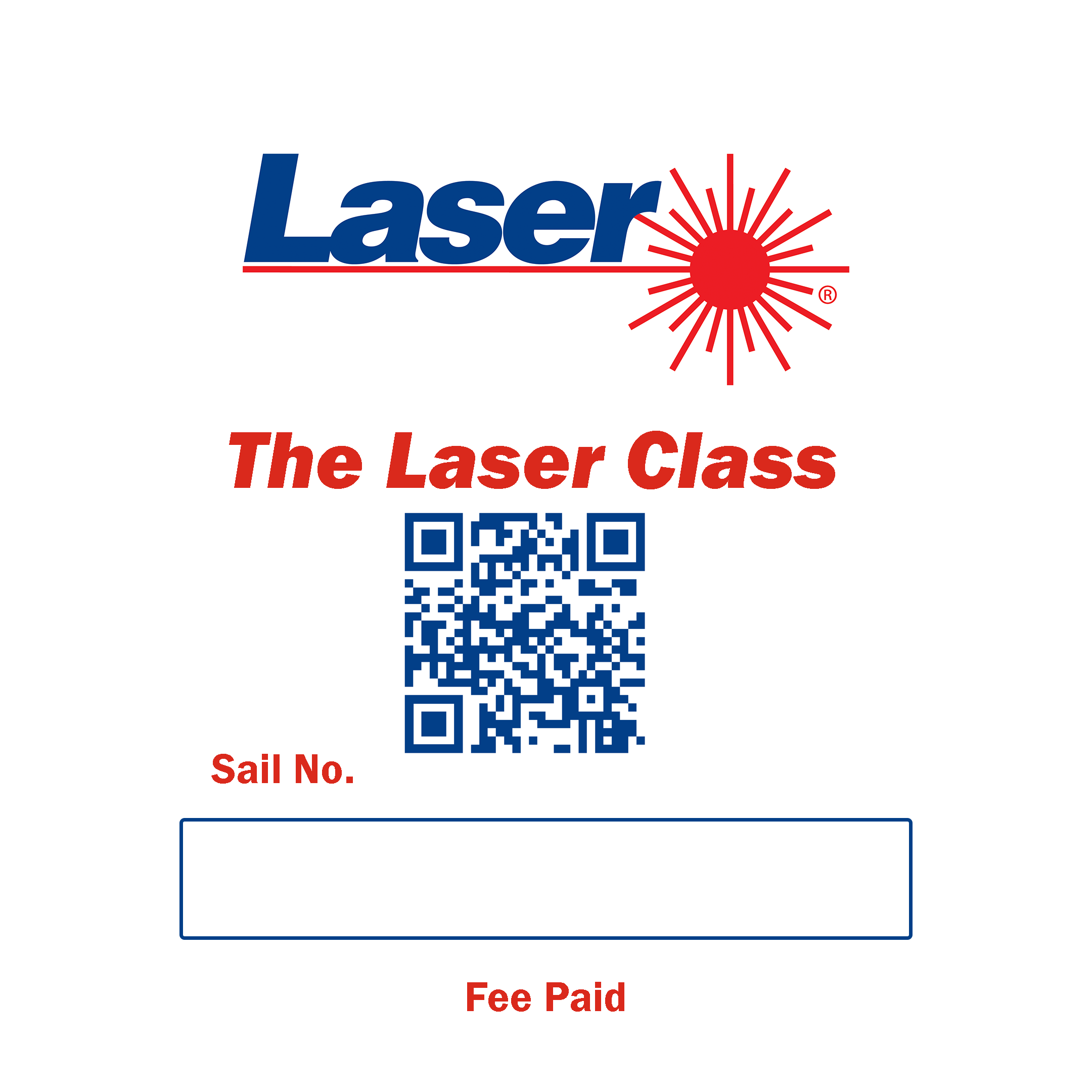 The Laser Class Plaque