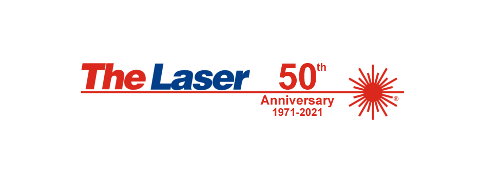 The Laser 50th Anniversary Logo
